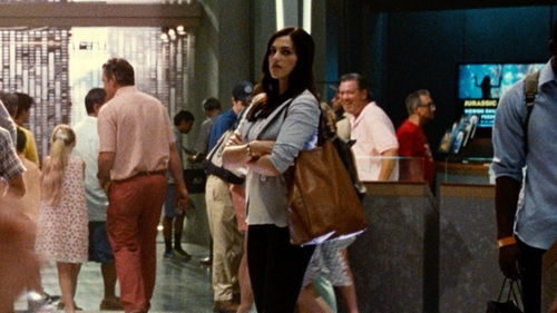 Katie McGrath with Madewell Transport Tote in Jurassic World