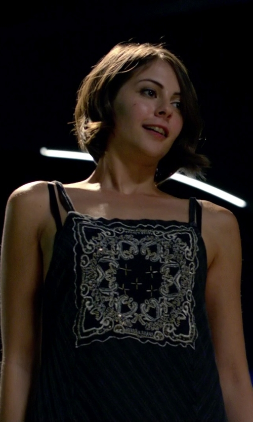 Willa Holland with Parker Marley Tank Top in Arrow