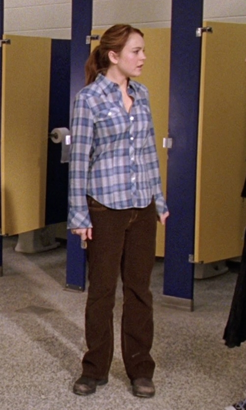Lindsay Lohan with Koral Denim Pants in Mean Girls
