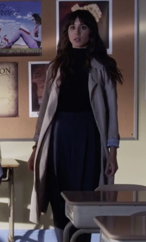 Troian Bellisario with All Saints Hace Trench Coat in Pretty Little Liars