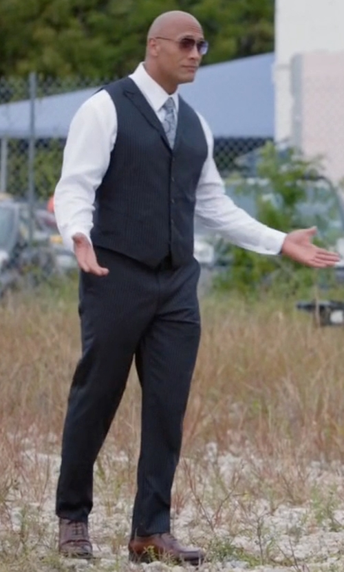 Dwayne Johnson with Kenneth Cole New York Men's Steep Hill Oxfords in Ballers