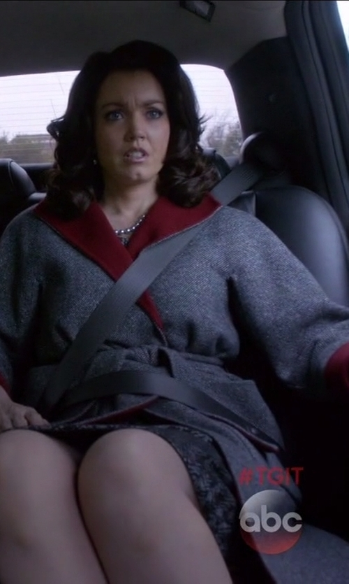 Bellamy Young with Victoria Beckham Reversible Coat in Scandal