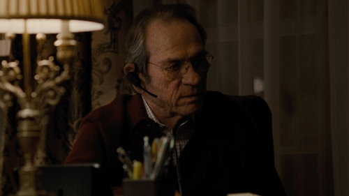 Tommy Lee Jones with Isaia Box Check Mitered-Cuff Dress Shirt in Jason Bourne