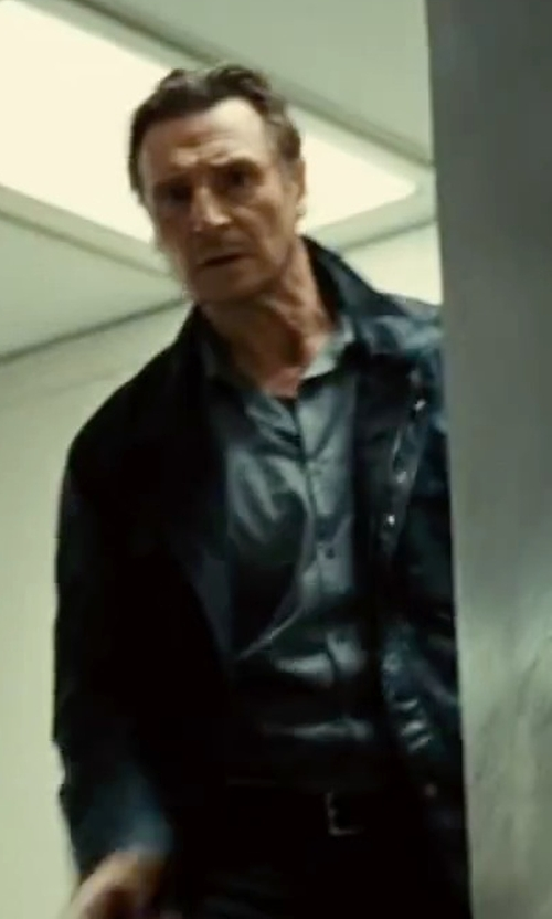 Liam Neeson with Corneliani Cotton Dress Shirt in Taken 3