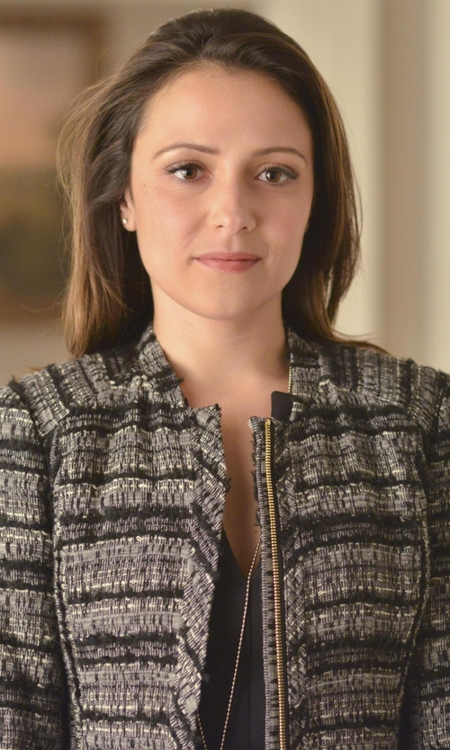 Italia Ricci with Derek Lam 10 Crosby Shrunken Jacket in Designated Survivor