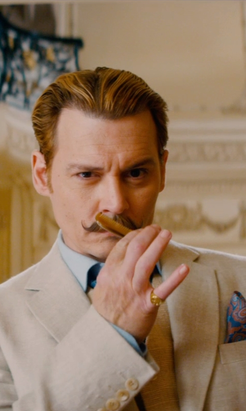 Johnny Depp with Mason Pearson Pocket Comb in Mortdecai