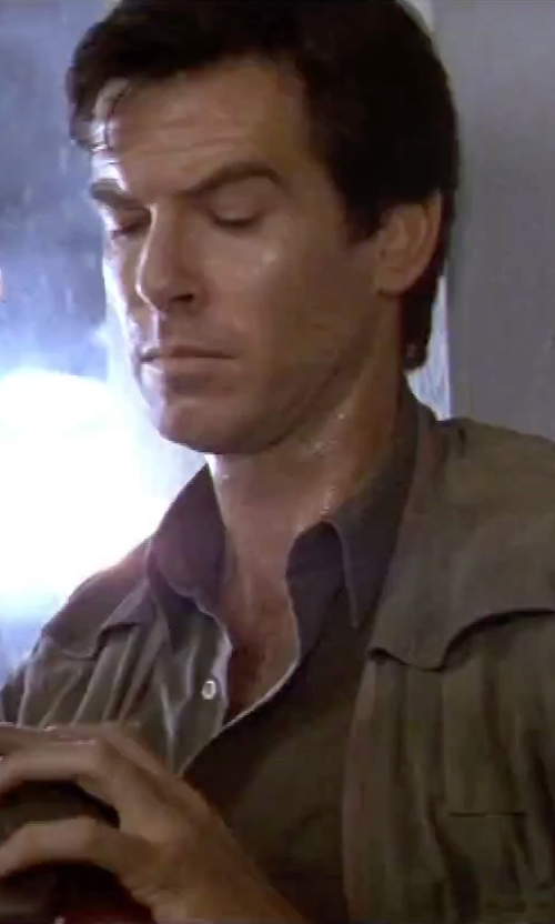 Pierce Brosnan with Mountain Khakis Stagecoach Vest in GoldenEye
