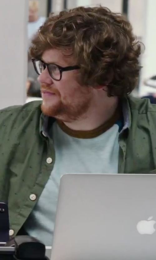 Zack Pearlman with Fred Perry Ringer T-Shirt in The Intern