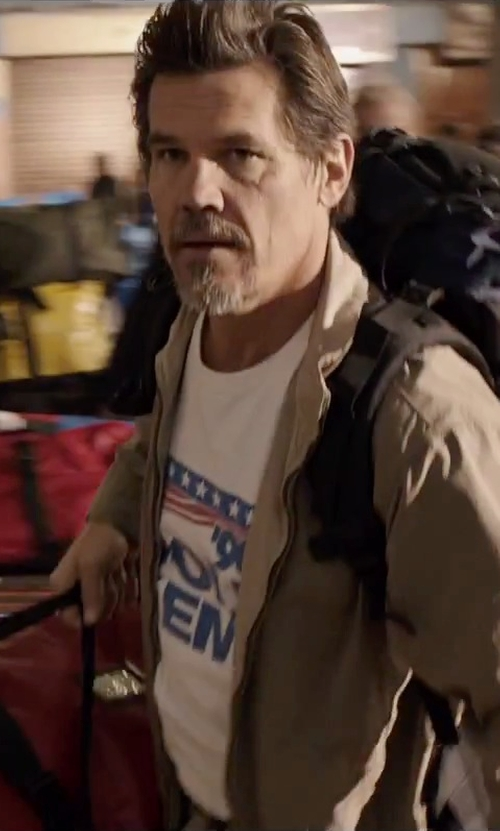 Josh Brolin with Port Authority Full-Zip Wind Jacket in Everest