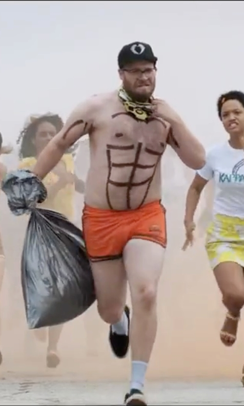 Seth Rogen with Diesel Revy Reversible Swim Trunks in Neighbors 2: Sorority Rising