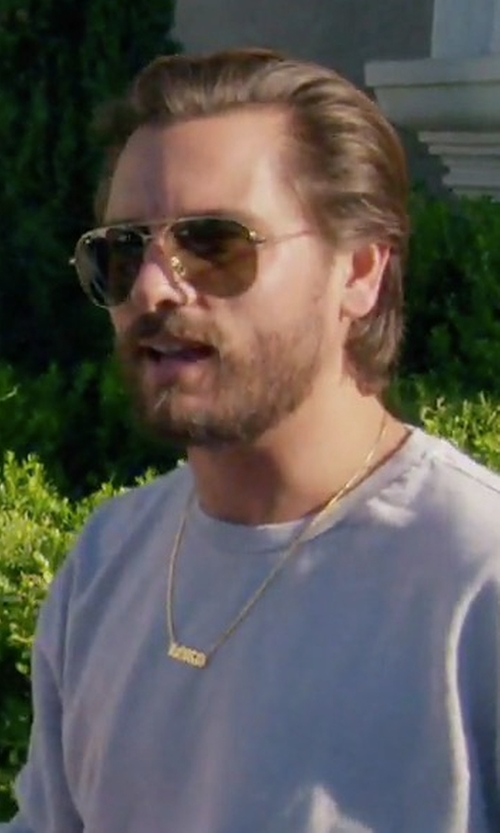 Scott Disick with Saint Laurent Aviator-Style Gold-Tone Sunglasses in Keeping Up With The Kardashians