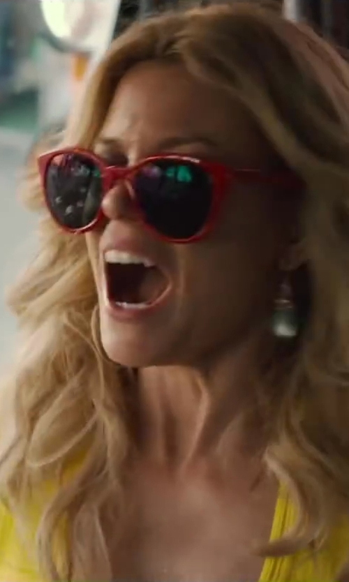 Elizabeth Banks with Kamali Kulture Square Cat Eye Sunglasses / Red in Walk of Shame