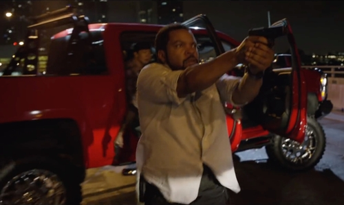 Ice Cube with Chevrolet Silverado 1500 Pickup Truck in Ride Along 2