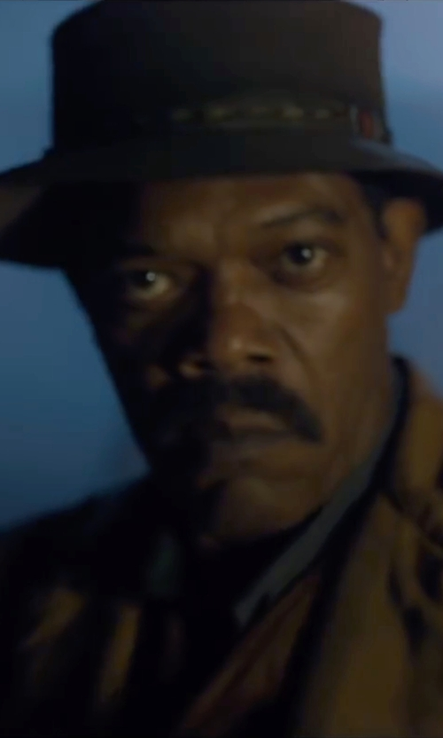 Samuel L. Jackson with Stacy Adams Wool Rocker Fedora Hat in The Legend of Tarzan
