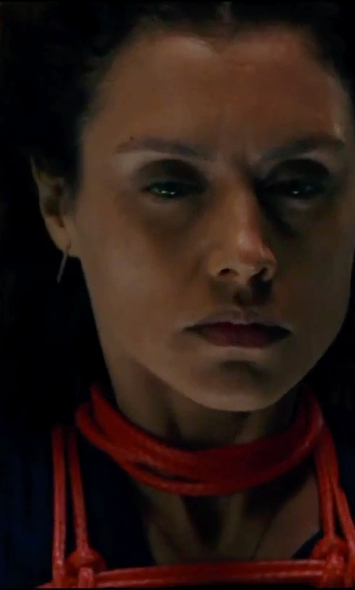 Hannah Ware with Ippolita	 Silver Squiggle Hoop Earrings in Hitman: Agent 47