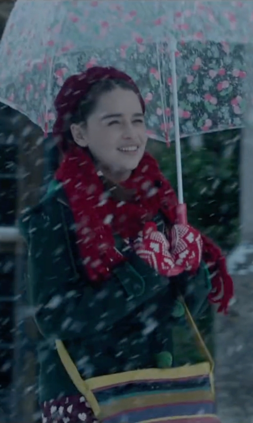 Emilia Clarke with C.C Beanie in Me Before You