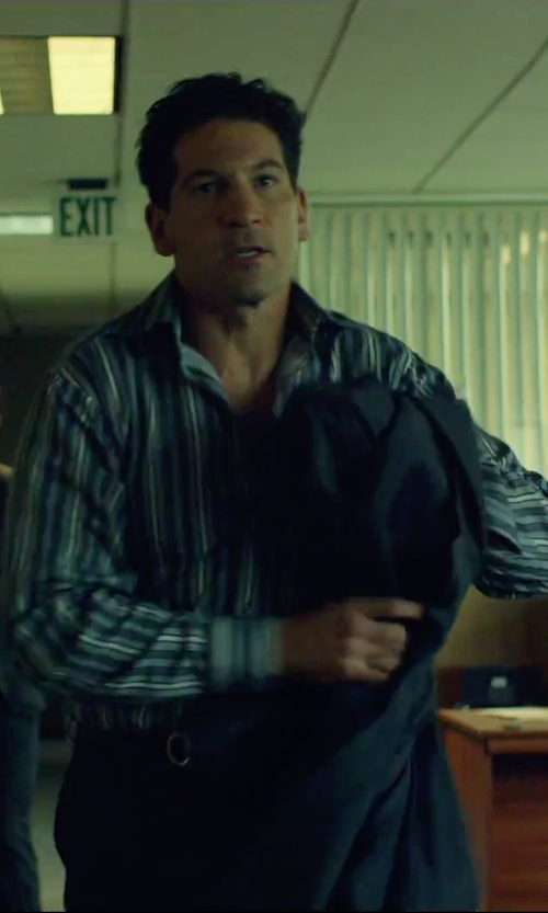 Jon Bernthal with Salvatore Ferragamo Double Gancini Buckle Leather Belt in We Are Your Friends