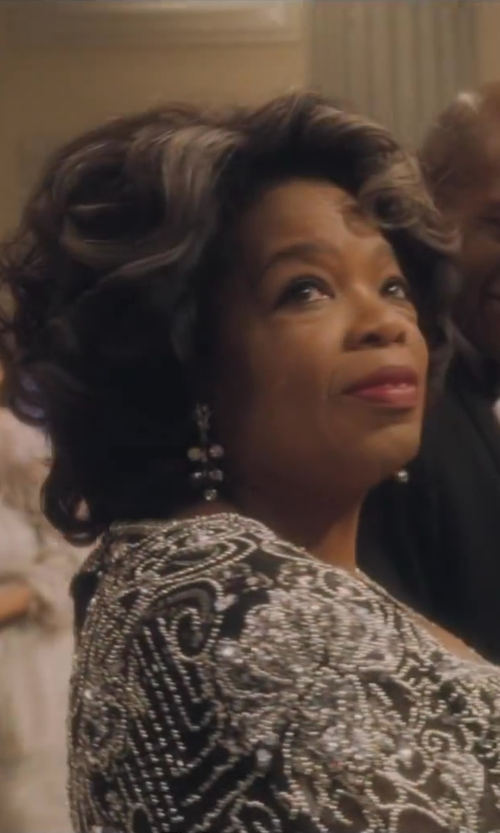 Oprah Winfrey with TraxNYC Candlestick Diamond Chandelier Earrings in Lee Daniels' The Butler