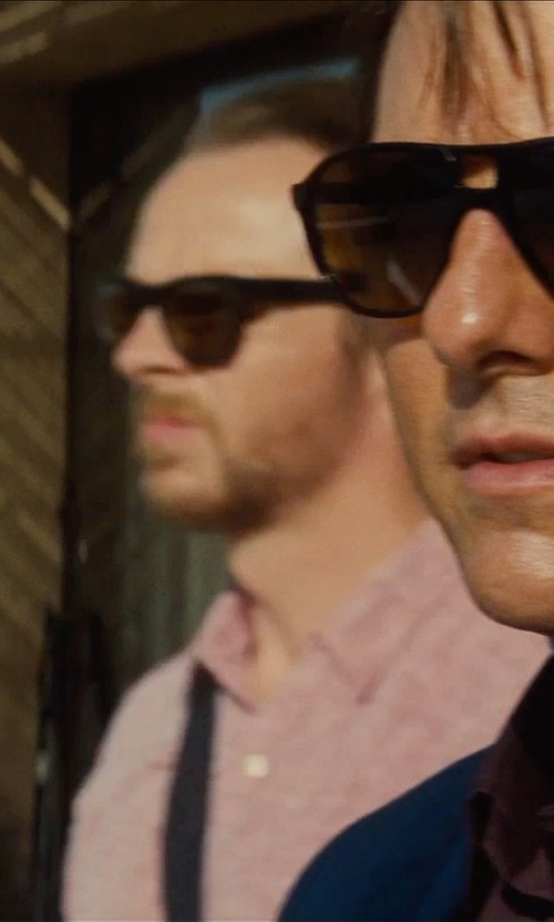 Simon Pegg with Dsquared2 Cutout Wayfarer Sunglasses in Mission: Impossible - Rogue Nation