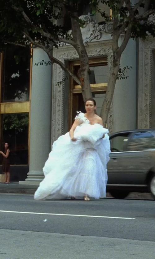 Maya Rudolph with Leesa Evans and Christine Wada (Costume Designers) The Wedding Dress (Lillian Donovan) in Bridesmaids