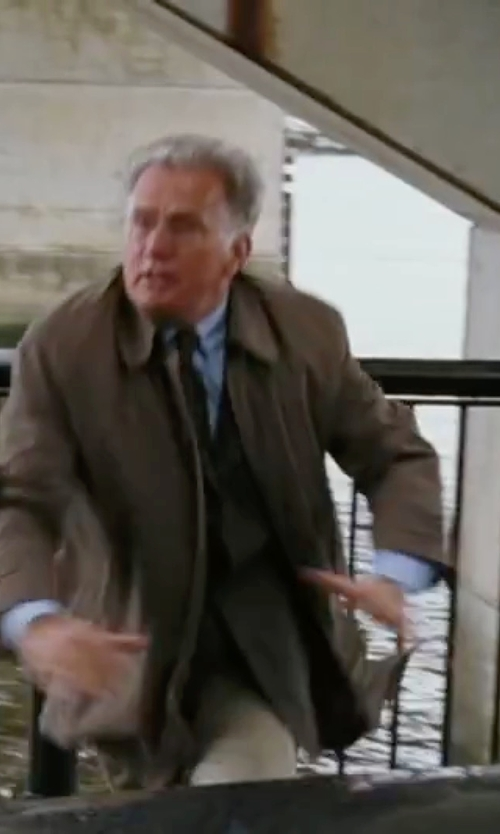 Martin Sheen with Eddie Bauer Eddie Microtherm Trench Coat in The Departed