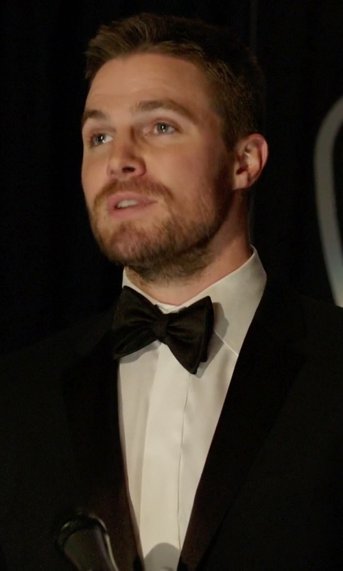 Stephen Amell with Boss 'The Stars 75/Glamour 3' Wool Tuxedo Suit in Arrow
