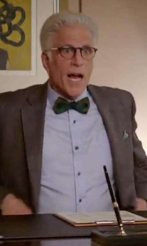 Ted Danson with Thomas Pink Marcella French Cuff Dress Shirt in The Good Place