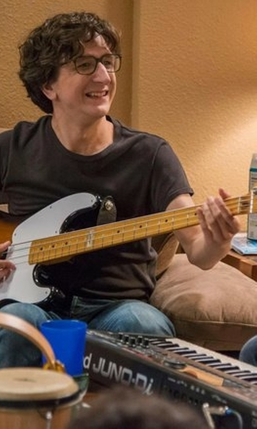 Paul Rust with Fender  Reissue Precision Sun Burst Electric Bass Guitar in Love