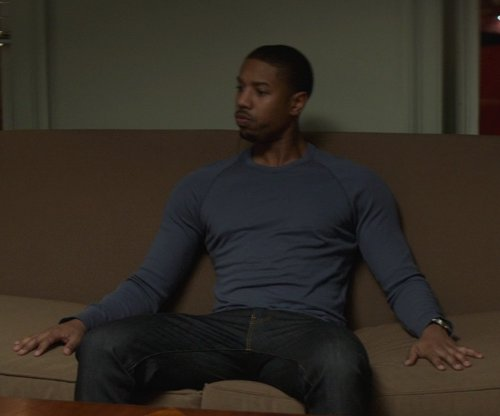 Michael B. Jordan with Calvin Klein Raglan Crew-Neck Sweater in That Awkward Moment