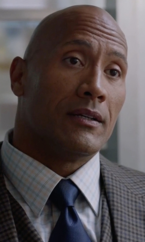Dwayne Johnson with Brioni Micro-Neat Woven Silk Tie in Ballers