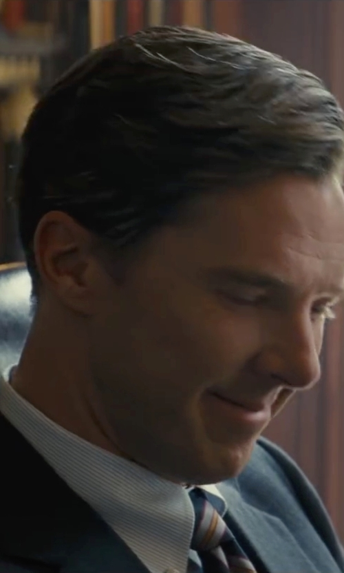 Benedict Cumberbatch with Schnayderman's Oxford Regular Stripe Shirt in Black Mass