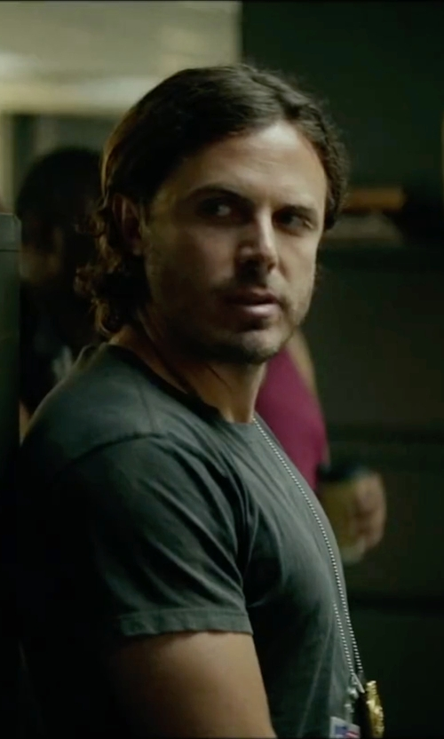 Casey Affleck with A.P.C. Anatole Tee in Triple 9
