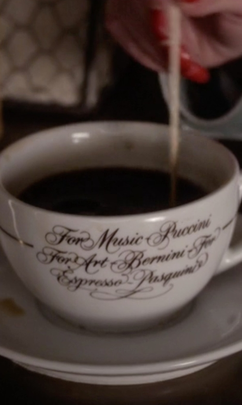 Ashley Benson with Pasquini Logo Cup and Saucers in Pretty Little Liars
