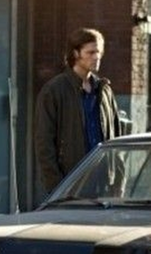 Jared Padalecki with Tommy Bahama 'Sunrise Rider' Island Modern Fit Leather Jacket in Supernatural