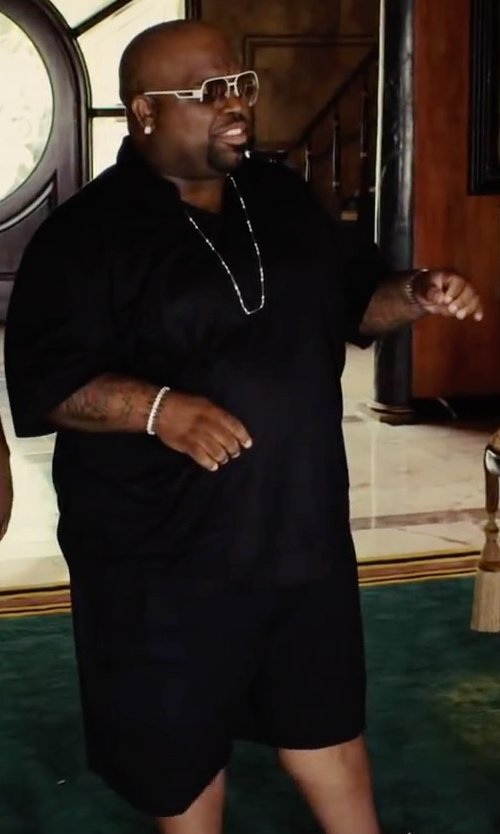 CeeLo Green with Alexander McQueen Drawstring Long-Shorts in Begin Again