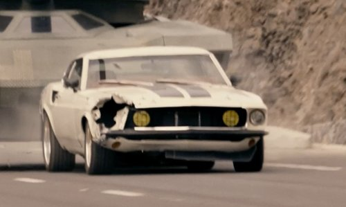 Tyrese Gibson with Ford 1969 Mustang Coupe in Fast & Furious 6