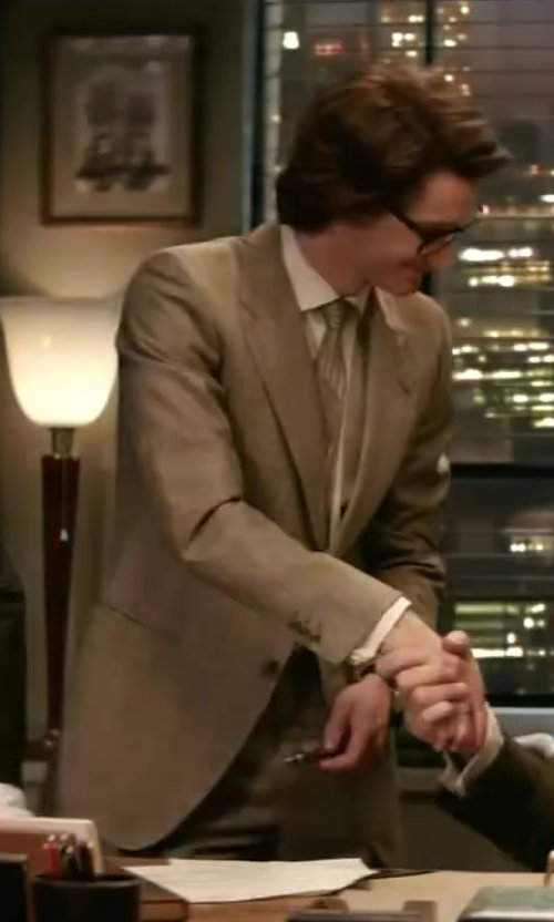 Pierre Niney with Burberry Slim Fit Lightweight Cashmere Suit in Yves Saint Laurent