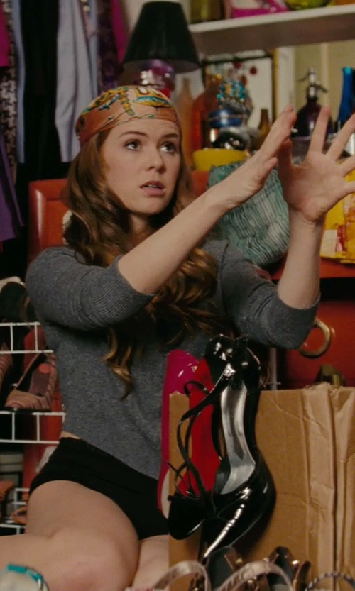 Isla Fisher with Majestic Filatures Long Sleeve T-Shirt in Confessions of a Shopaholic