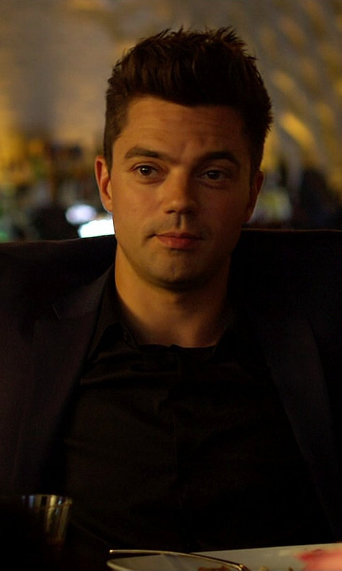 Dominic Cooper with Saint Laurent Classic Shirt in Need for Speed