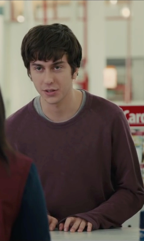 Nat Wolff with Mountain Hardwear Toasty Twill Fleece Pullover Sweater in Paper Towns