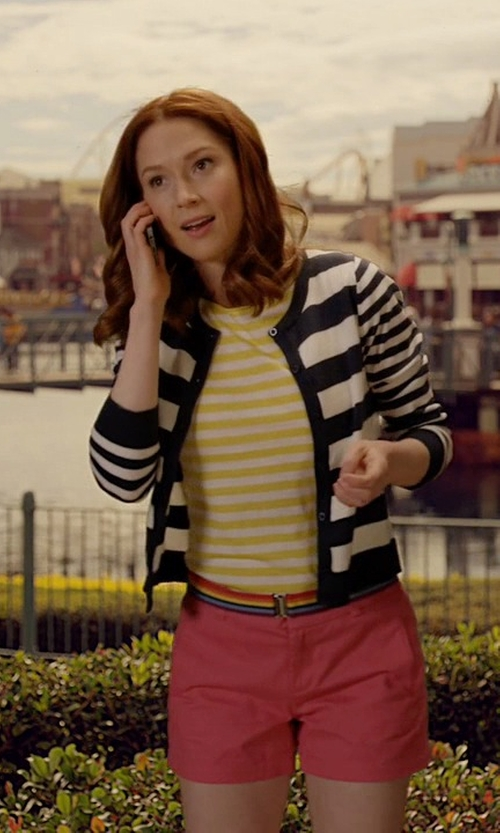Ellie Kemper with So Nice Stripe Cardigan in Unbreakable Kimmy Schmidt