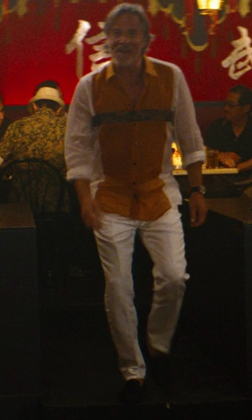 Don Johnson with Giorgio Armani Suede Venetian Loafer Shoes in The Other Woman