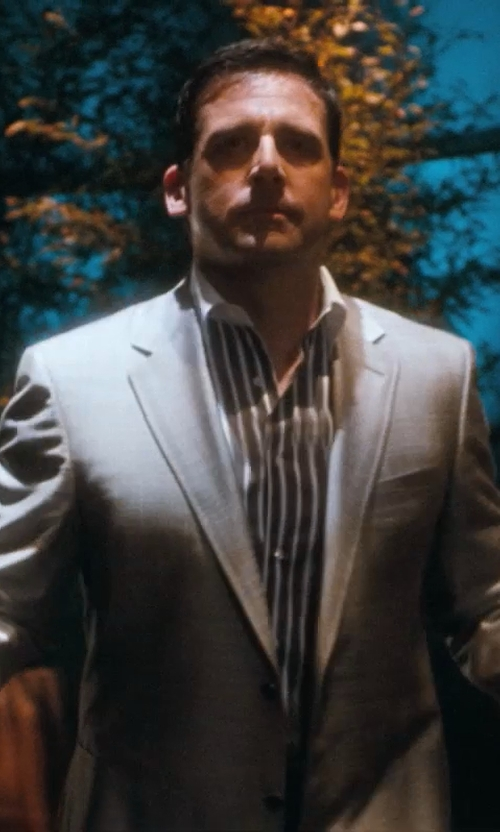 Steve Carell with Hart Schaffner Marx New York Classic Fit Wool Suit in Crazy, Stupid, Love.