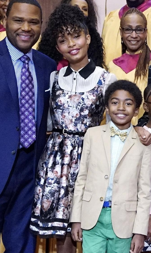 Yara Shahidi with Sachin & Babi Full Bouquet Dress in Black-ish
