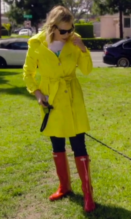 Chelsea Handler with Forever Young Faux-Fur-Lined Rain Boots in Chelsea