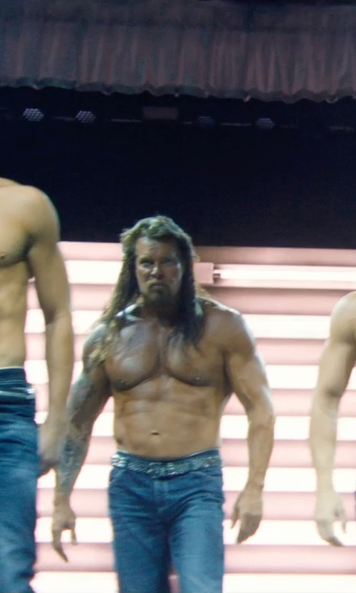 Kevin Nash with A.P.C. Washed New Standard Jeans in Magic Mike XXL