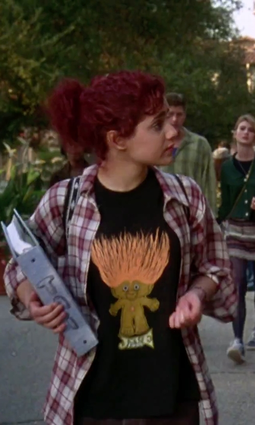 Brittany Murphy with Cafe Press Troll Head T-Shirt in Clueless