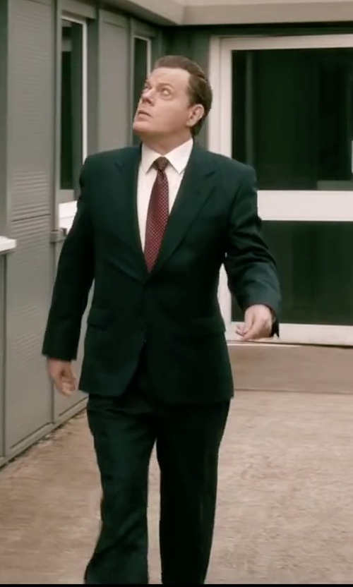 Eddie Izzard with Izod Two-Button Black Solid Suit in Absolutely Anything