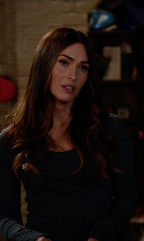 Megan Fox with Free People Lovely Lady Cuff Shirt in New Girl