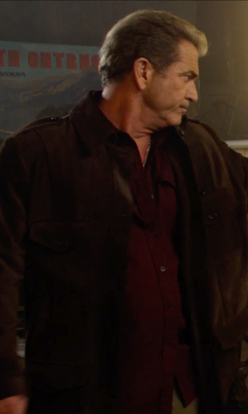 Mel Gibson with Gazzarrini Long Sleeve Shirts in The Expendables 3